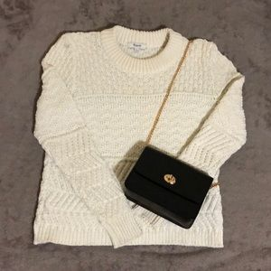 Madewell White Knit Sweater